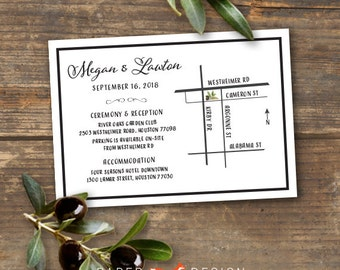 Olive Branch Wedding Information or Map Direction Card Printable