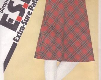 Basic Bias Skirt Pattern Simplicity 9583 Sizes 8-14