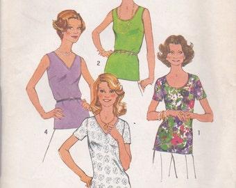 Vintage T-Shirt & Tank Top Pattern Simplicity 7911 Size 14 Uncut