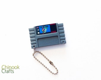 Super Mario World SNES Cartridge Keychain