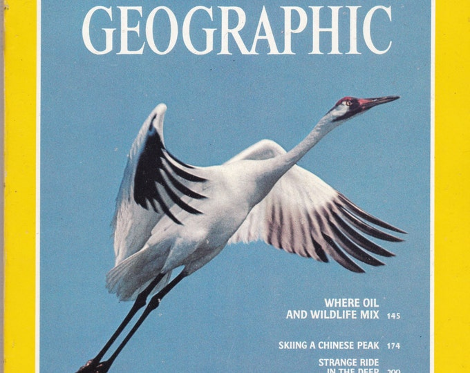 Vintage National Geographic Magazine,Vol 159, No 2, February 1981, Wildlife, Skiing, Chinese, Minoan Temple, Virgin Islands, Caribbean