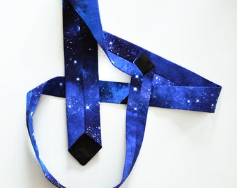 Galaxy print neck tie- Bespoke space necktie