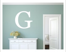 Initial Wall Decal Personalized Monogram Decal Wall Decal Vinyl Wall Decal Vinyl Wall Initial Bold Letter Decal Initial Letter Only Wall