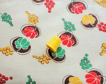 fruit and gourds novelty print vintage feedsack fabric