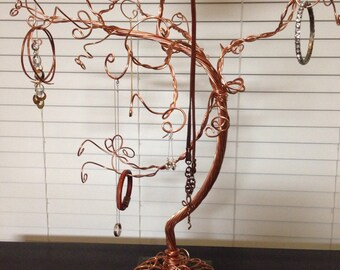 Ornament Jewelry Display Copper Tree Brilliant Color, Ready to Ship, Large Size