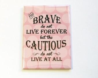 Live Life, Magnet, Fridge magnet, Kitchen magnet, ACEO, stocking stuffer, Pink, polka dot, inspirational saying, inspirational magnet (4826)