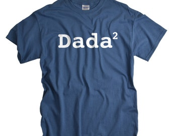 Dada shirt funny 2nd child new father tshirt two kids twins tee shirt fathers day gift for dad baby shower gift for husband dada tshirt men