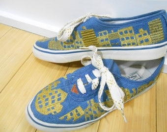 Womens Sneakers/ Tennis Shoes/ 90s Sneakers/ Keds/ Gold Sneakers/ Metallic Shoes/ Gold Shoes/ Club Kid Shoes/ 90s Shoes/ Womens Oxfords