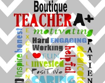 Teacher Subway Art Digital Download