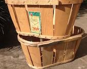 Vintage fruit crate wooden crate storage basket log basket