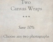 Canvas Art, Custom Set of 2 Gallery Wraps, Fine Art Photography, Ready to Hang Wall Art, SAVE 10%