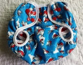 Puffy Planes One Size Diaper Cover double gussets