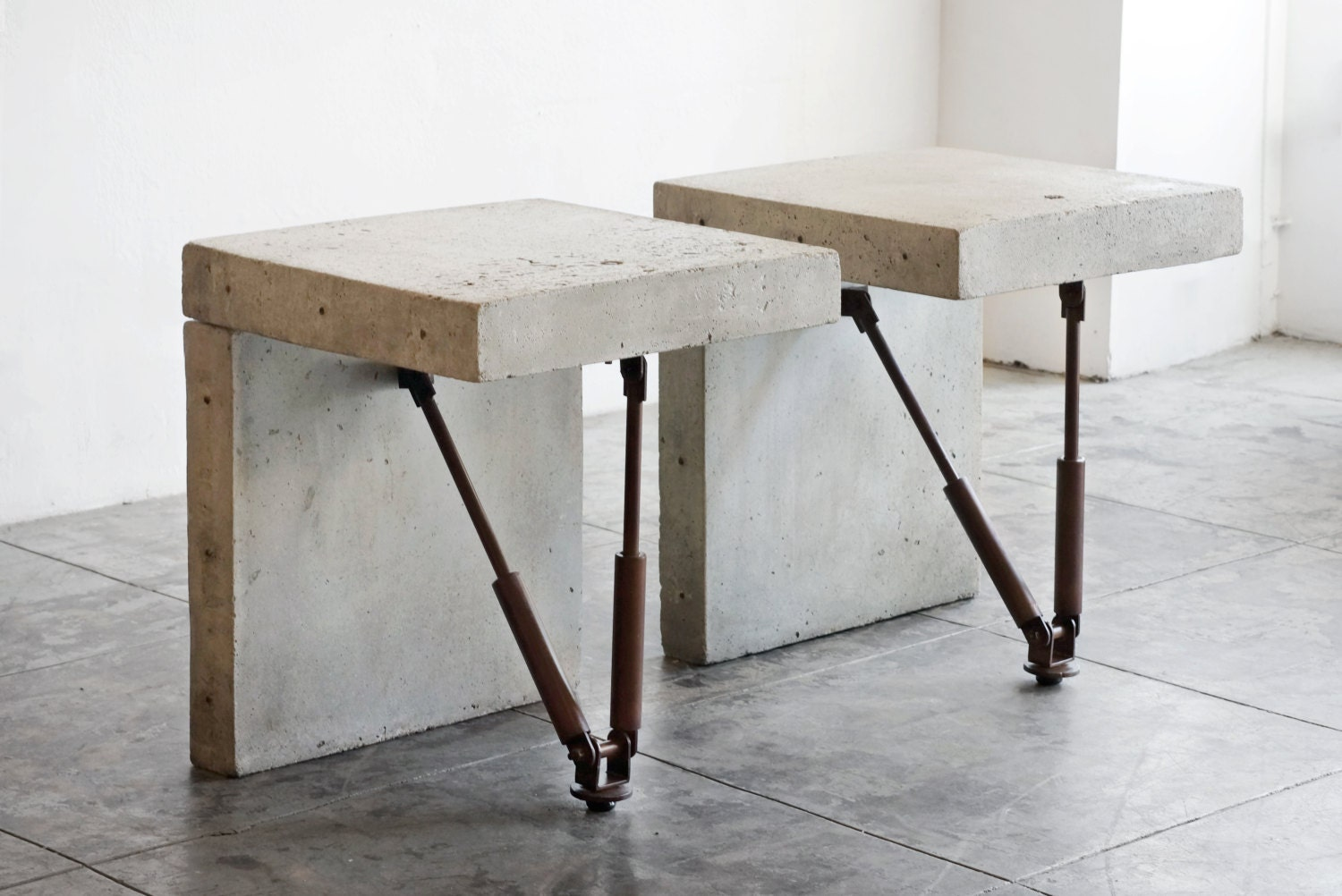 Cast Concrete Display Tables C 1970s Two Available Haute Juice