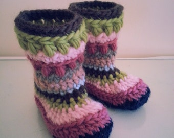 Handmade Crochet Kids Slippers, Booties, Boots