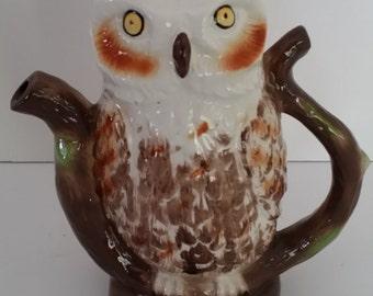Vintage Owl Tea Pot, Made by Tony Wood Studio, England