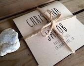 RUSTIC Wedding Mini Square Program - Ceremony - Modern - Eco - Sample - Printed - DIGITAL - DIY Printable File