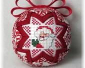 Quilted Keepsake Ornament - Santa / HO HO HO