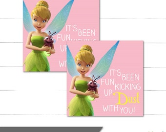 Tinkerbell Birthday Favor Tags - Square Tags - Favor Stickers - Fairy Birthday - Pixie Hollow Collection - Instant Download