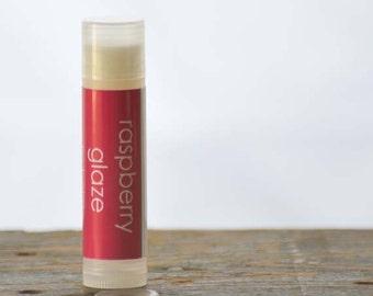 Raspberry Glaze Lip Balm - fruit lip balm - sweet lip balm - raspberry lip balm - food lip balm - light flavor lip balm