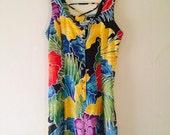 Jungle print lace up dress
