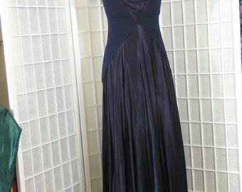 Tadashi - Dark BLUE MAXI DRESS  - S - 8-10 approx