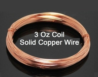 COPPER WIRE 18ga 3 Oz 42 Ft ( Dead Soft ) solid bright copper wire