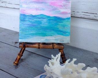 Sunset Original Painting/Gallery Wall Painting/Beach House Art