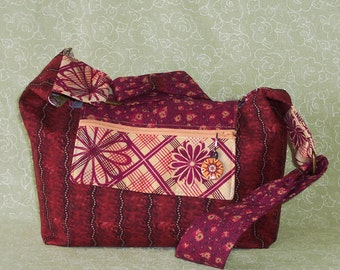 Just the Right Size Purse Shoulder Strap Burgundy Bag
