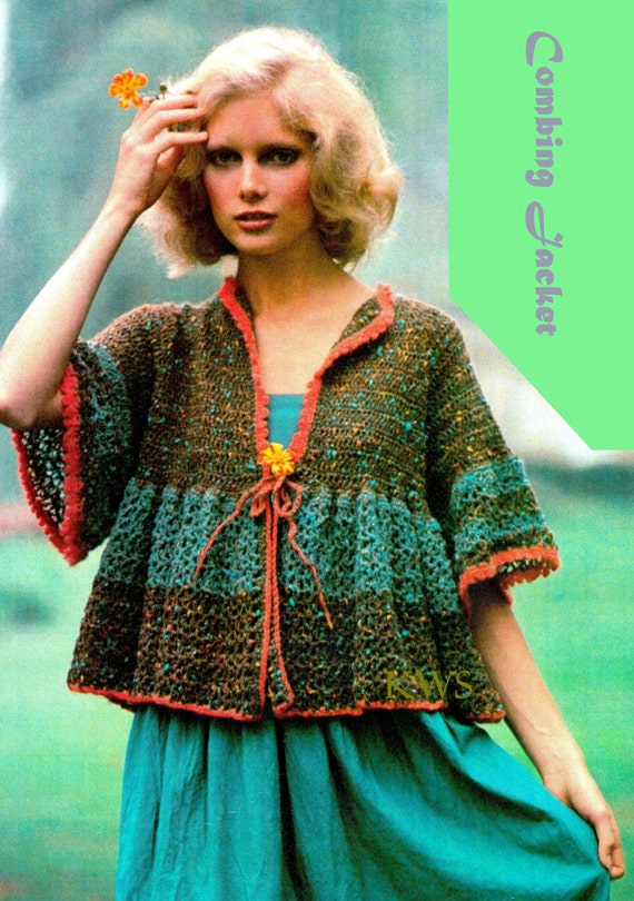 Crochet Pattern, Crochet Top PDF Pattern, Crochet Jacket Pattern, Crochet Instant Download Pattern
