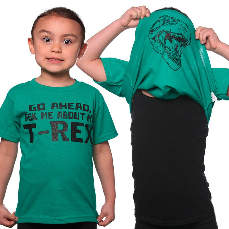 Connu Go Ahead Ask Me About My T-Rex T-Shirt Funny Dinosaur Costume AA02