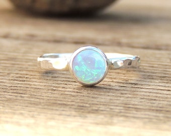 Natural Opal Ring, Rustic Organic Boho Chic, Alternative Engagement Ring, 14k Yellow, Rose or White Gold or Silver, Hand made custom Ring