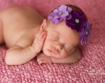 Lavender and Purple Hydrangea Headband