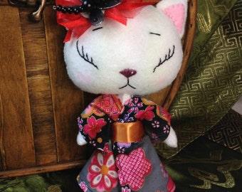 Aki Kimono Kitten