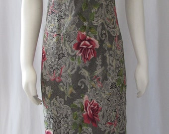 Vintage BOHO long Dress made in USA Jessica Howard size 6
