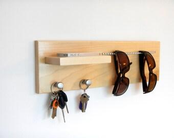 Phone, Keys & Sunglasses bungee organizer, wall mounted