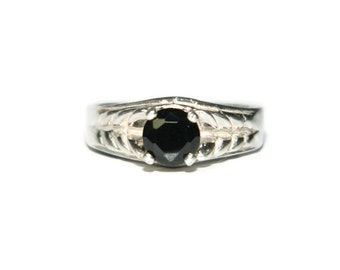 Black Spinel Ring, Natural Stone Ring, Anniversary Ring, Gift For Her