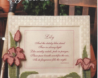 Lily Border Plastic Canvas Pattern - The Needlecraft Shop - Floral Flower Lily Picture Frame Border, Wall Hanging, Home Decor