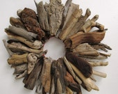 Small Driftwood Wreath, Rustic Home Decor, Beach Home Decor (MADE TO ORDER)