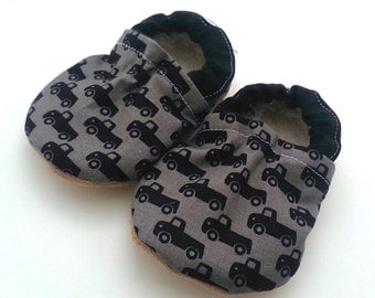 truck shoes baby boy shoes black shoes truck slippers soft sole shoes black and gray baby boy shoes black trucks toddler shoes toddler boy
