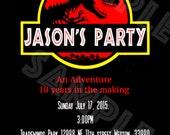 Jurassic Park Jurassic World invitation