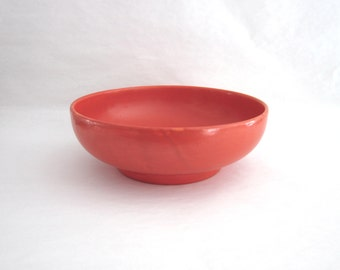Vintage Orange Art Pottery Serving Bowl