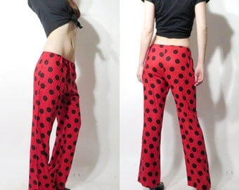 Vintage Red Dotted Pants