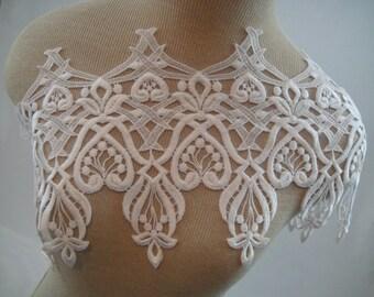 Venise Lace Trim, White Bridal Trim, Guipure Lace, Lace Trim, Wedding Supply, Bridal Lace, Wedding Dress Lace G35-500