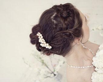 Bridal Pearl comb, Wedding accessories, Freshwater pearl comb, Headpiece, Bridal hair piece, Wedding hair accessories