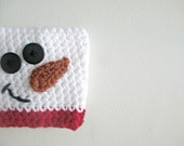 Crochet Snowman, Coffee Cozy, Coffee Cup Sleeve, Coffee Cup Cozy, Coffee Cup Holder, Cup Cozy, Crochet Cup Cozy, Crochet Coffee Cozy