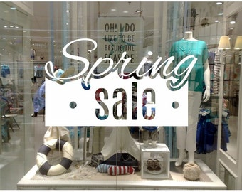 Spring Sale Shop Window decal easy to paste or remove - shop window display - ask us for custom decals (ID: 131057)