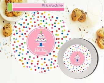 Personalized Birthday Plate, Girls Birthday Plate, Melamine Cake Plate, Plate Bowl Set, Melamine Dishes, Kids Gift
