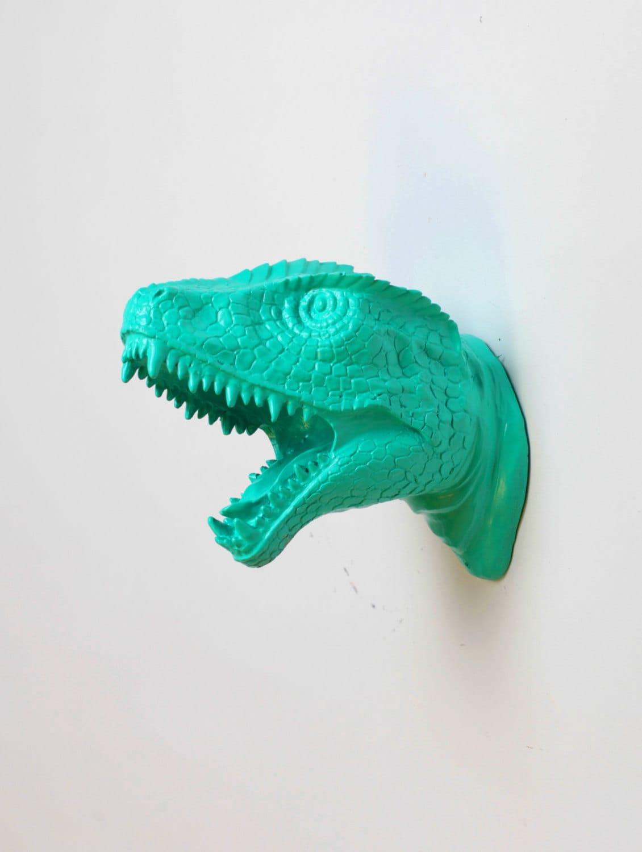 t rkis dinosaurier wandkunst kunst der mini crowley miniatur. Black Bedroom Furniture Sets. Home Design Ideas