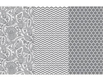 Silver DECOUPAGE PAPER - DecoArt Decoupage Paper - Collage Paper - Mixed Media Paper - Foiled Decoupage Paper - Metallic Decoupage Paper
