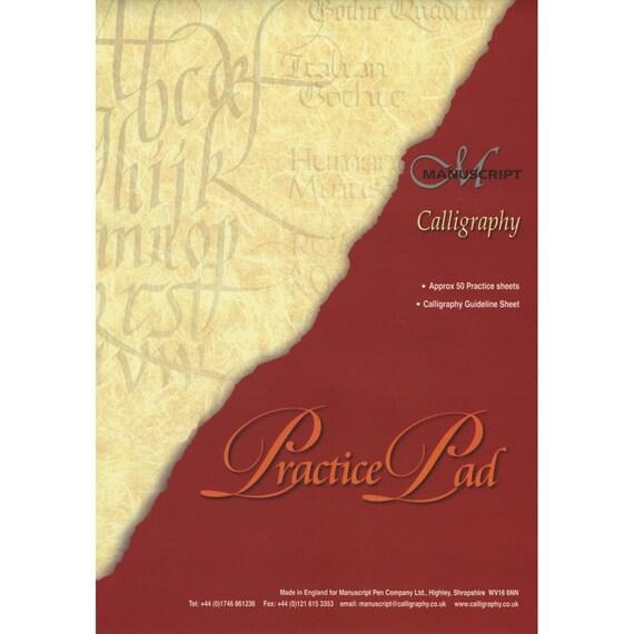 Manuscript calligraphy practice pad writing